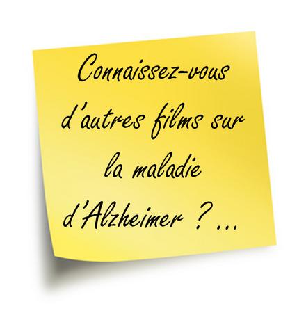 Vos films sur la maladie d'Alzheimer …